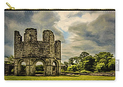 Ruins Of Mellifont Abbey Carry-all Pouch by Jeff Kolker