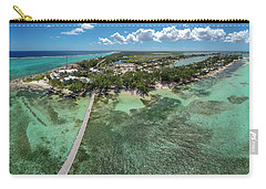 Carry-all Pouch featuring the photograph Rum Point Beach Panoramic by Adam Romanowicz