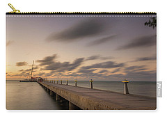 Carry-all Pouch featuring the photograph Rum Point Grand Cayman At Dusk by Adam Romanowicz