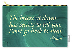 Rumi's Breeze At Dawn Carry-all Pouch