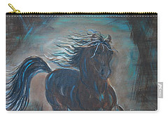 Carry-all Pouch featuring the painting Run Horse Run by Leslie Allen