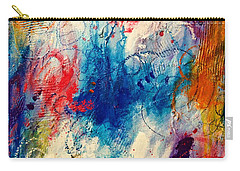 Carry-all Pouch featuring the painting Run Like The Wind by Tracy Bonin