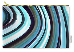 Carry-all Pouch featuring the digital art Running Blue by Wendy J St Christopher