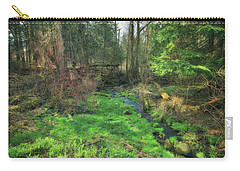 Running Creek In Woods - Spring At Retzer Nature Center Carry-all Pouch by Jennifer Rondinelli Reilly - Fine Art Photography