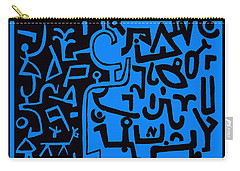 Carry-all Pouch featuring the digital art Running From The Dream Spirits by Vagabond Folk Art - Virginia Vivier
