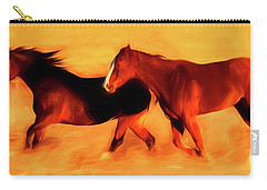 Running Horses 01 Carry-all Pouch
