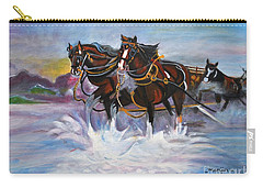 Running Horses- Beach Gallop Carry-all Pouch