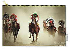 Running Horses In Dust Carry-all Pouch