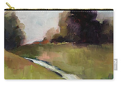 Carry-all Pouch featuring the painting Running Stream by Michelle Abrams