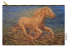 Running Swirly Horse Carry-all Pouch