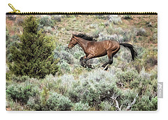 Carry-all Pouch featuring the photograph Running Through Sage by Belinda Greb