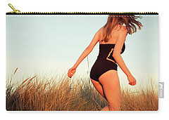 Running Unsharp In The Golden Hour Carry-all Pouch