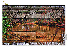 Running Waters Covered Bridge 025 Carry-all Pouch by George Bostian