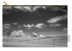 Rural Landscape, Black And White Infrared Carry-all Pouch