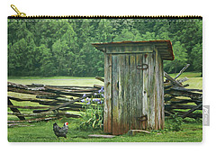 Carry-all Pouch featuring the photograph Rural Outhouse by Nikolyn McDonald