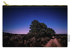 Carry-all Pouch featuring the photograph Rural Starlit Road by T Brian Jones