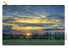 Rural Sunset Carry-all Pouch by Lewis Mann