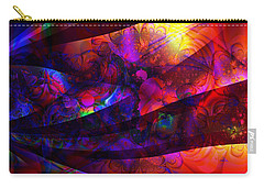 Carry-all Pouch featuring the digital art Rush by Kiki Art