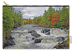 Carry-all Pouch featuring the photograph Rushing Towards Fall by Glenn Gordon