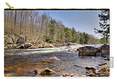 Carry-all Pouch featuring the photograph Rushing Waters Of The Moose River by David Patterson
