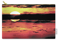 Carry-all Pouch featuring the painting Russet Sunset by Paula Ayers