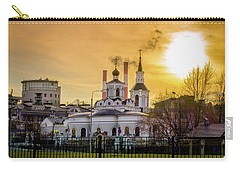 Carry-all Pouch featuring the photograph Russian Ortodox Church In Moscow, Russia by Alexey Stiop