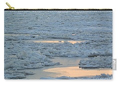 Russian Waterway Frozen Over Carry-all Pouch by Margaret Brooks