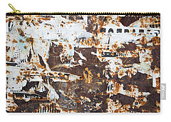 Carry-all Pouch featuring the photograph Rust And Torn Paper Posters by John Williams