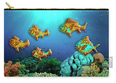 Carry-all Pouch featuring the photograph Rust Fish by Paul Wear