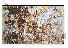 Rust Paper Texture Carry-all Pouch by John Williams
