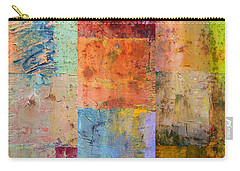 Carry-all Pouch featuring the painting Rust Study 2.0 by Michelle Calkins