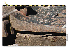 Carry-all Pouch featuring the photograph Rusted Rail by Colleen Coccia