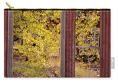 Carry-all Pouch featuring the photograph Rustic Autumn by Leland D Howard