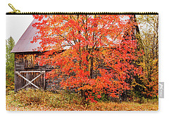 Carry-all Pouch featuring the photograph Rustic Barn In Fall Colors by Jeff Folger