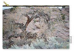 Carry-all Pouch featuring the photograph Rustic Desert Tree by Andrea Hazel Ihlefeld