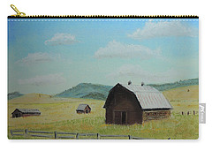 Rustic Montana Barn Carry-all Pouch by Jayne Wilson
