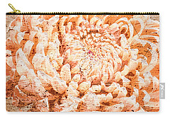 Rustic Peach Mum Carry-all Pouch by Suzanne Powers