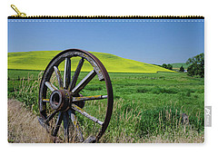 Rustic Wagon Wheel In The Palouse Carry-all Pouch