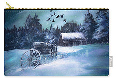 Rustic Winter Barn  Carry-all Pouch