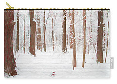 Rustic Winter Forest Carry-all Pouch by Dan Sproul