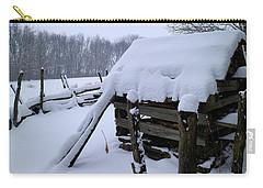Rustic Winter Setting Carry-all Pouch