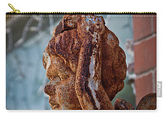 Carry-all Pouch featuring the photograph Rusty Angel by Linda Unger