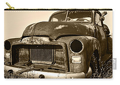 Rusty But Trusty Old Gmc Pickup Truck - Sepia Carry-all Pouch