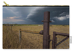 Carry-all Pouch featuring the photograph Rusty Cage  by Aaron J Groen