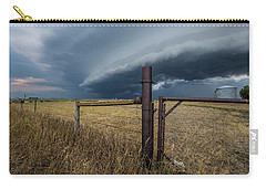 Carry-all Pouch featuring the photograph Rusty Cage Horizontal  by Aaron J Groen