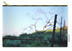 Carry-all Pouch featuring the photograph Rusty Gate Rural Tree 2 by Matt Harang