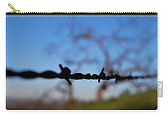 Carry-all Pouch featuring the photograph Rusty Gate Rural Tree by Matt Harang