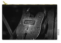 Carry-all Pouch featuring the photograph Rusty Lock In Bw by Doug Camara