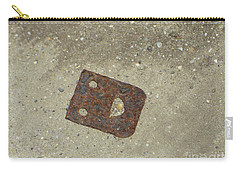 Rusty Metal Hinge Smiley Carry-all Pouch