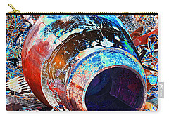 Rusty Metal Stuff II Carry-all Pouch by Debbie Portwood